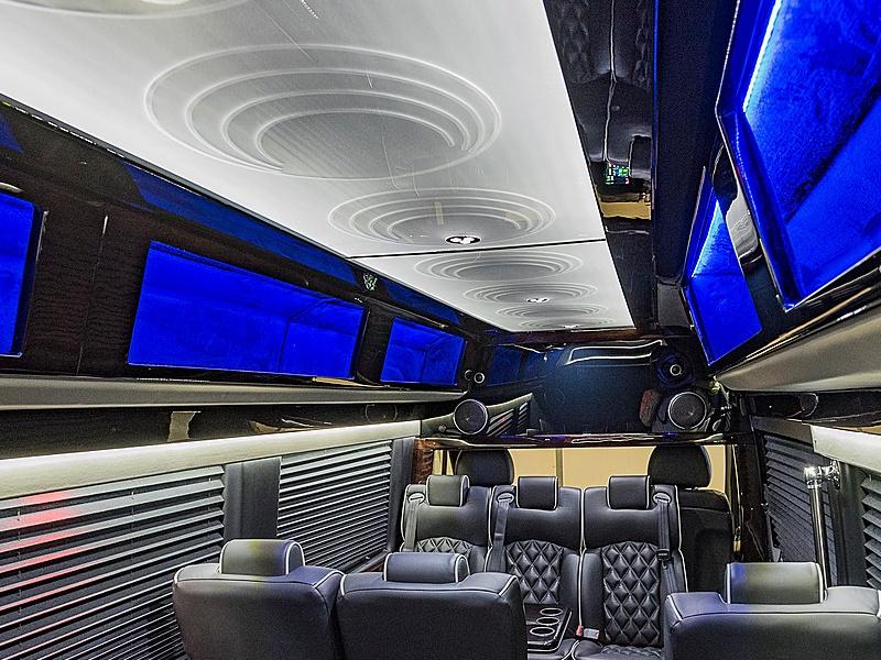 EBB ceiling in custom golf shuttle